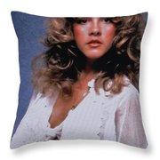 Stevie Nicks In Curls Throw Pillow