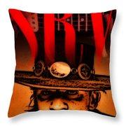 Stevie Ray Throw Pillow