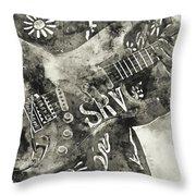 Stevie Ray Vaughan - 03 Throw Pillow