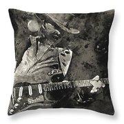 Stevie Ray Vaughan - 13  Throw Pillow
