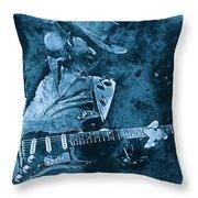 Stevie Ray Vaughan - 14 Throw Pillow