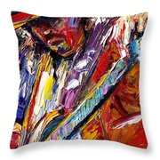 Stevie Ray Vaughan Number One Throw Pillow