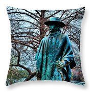 Stevie Ray Vaughan Vibrant Colors Throw Pillow