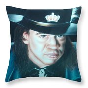 Stevie Ray Vaughn Throw Pillow