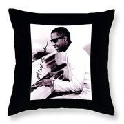 Stevie Wonder Autographed Throw Pillow