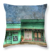 Stewards General Store And Post Office Throw Pillow