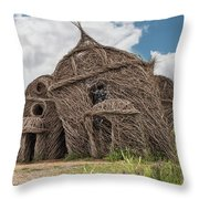 Lean On Me - Stick House Series #3 Throw Pillow