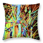 Stick Of Color Throw Pillow