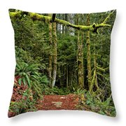 Sticking Out In The Rain Forest Throw Pillow