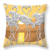 Sticking Together Throw Pillow