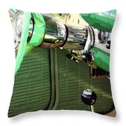Stickshift Throw Pillow