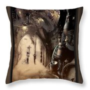 Still Breathing Throw Pillow