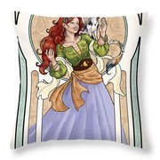 Still Dreaming Throw Pillow by Brandy Woods