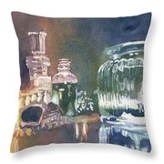 Still Glass Pour Throw Pillow