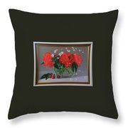 Still Life 6,red Rose  Throw Pillow