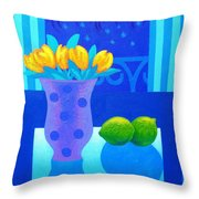 Still Life At Window IIi Throw Pillow