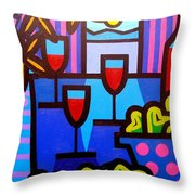Still Life At Window  Throw Pillow