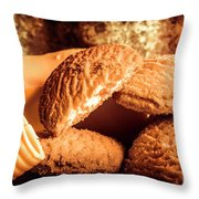 Still Life Bakery Art. Shortbread Cookies Throw Pillow