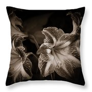 Still. Life. Colorless. Flowers. Throw Pillow