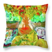 Still Life Flower Throw Pillow
