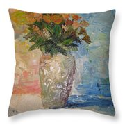 Still Life Flowers Throw Pillow