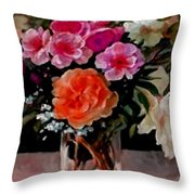 Still-life For Anne Catus 1 No. 1 H A Throw Pillow