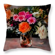 Still-life For Anne Catus 1 No.1 H B Throw Pillow