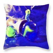 Still Life In Blue Throw Pillow