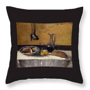 Still Life Nature Morte Throw Pillow
