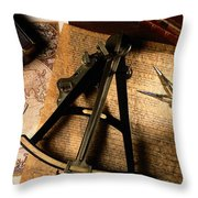 Still Life Of Charts, Books Throw Pillow
