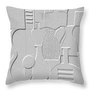 Still Life Paper Relief Throw Pillow