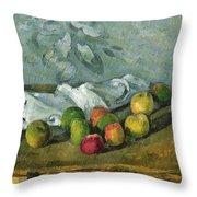 Still Life Throw Pillow by Paul Cezanne