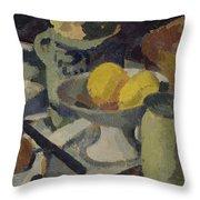 Still Life Throw Pillow by Roger de La Fresnaye