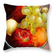 Still Life Tiles Throw Pillow