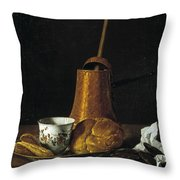 Still Life With A Chocolate Service Throw Pillow