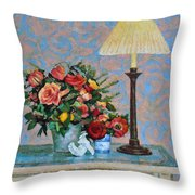 Still Life With A Lamp Throw Pillow