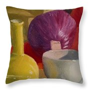 Still Life With An Onion Throw Pillow