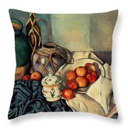 Still Life With Apples Throw Pillow by Paul Cezanne