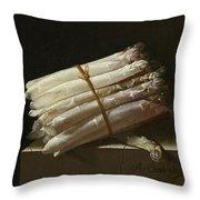 Still Life With Asparagus Throw Pillow