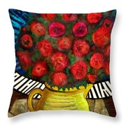 Still Life With Baby Grand Throw Pillow