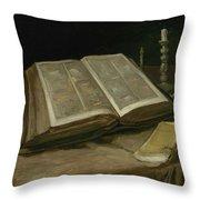 Still Life With Bible Nuenen, October 1885 Vincent Van Gogh 1853  1890 Throw Pillow