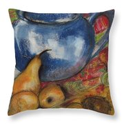 Still Life With Blue Teapot One Throw Pillow