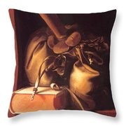 Still Life With Book And Purse Throw Pillow