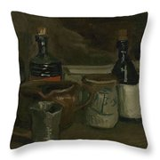 Still Life With Bottles And Earthenware Nuenen, November 1884 - April 1885 Vincent Van Gogh 1853  Throw Pillow