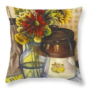Still Life With Brown Paper Sack Throw Pillow