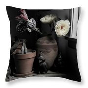 Still Life With Cactus Throw Pillow