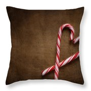 Still Life With Candy Canes Throw Pillow