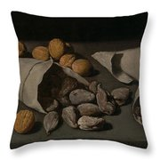 Still Life With Dried Fruit Throw Pillow