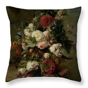 Still Life With Flowers, 1789 Throw Pillow