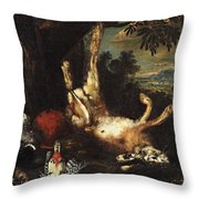 Still Life With Game Throw Pillow